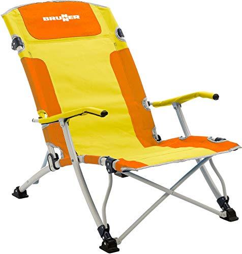 BRUNNER Campingartikel Strandkorb BULA XL (orange/gelb)