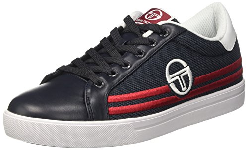 Sergio Tacchini Supermac Mesh, Sneakers basses homme Blu (Navy/Red/White)