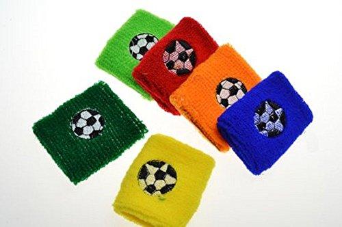10 x Schweißband Fußball verschiedene Farben (Tennis-fußball-kinder)