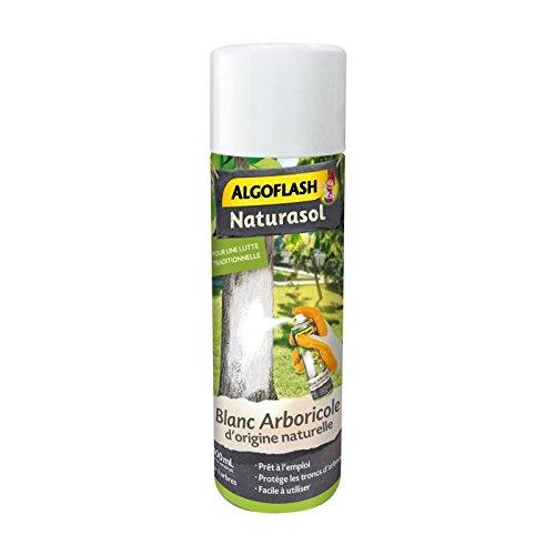ALGOFLASH NATURASOL Aérosol Blanc Arboricole, Fabriqué en France, Jusqu'à 3 arbres, 400 ml, BIOBLAN4A