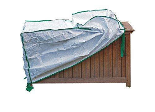 Protection pour Coffre de Rangement pour le Jardin - excl. de Tyvek couleur blanc - dimensions: 125cm x 50cm x H60cm