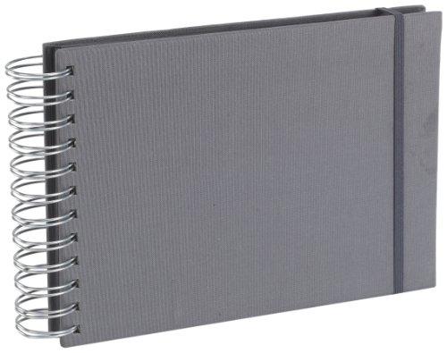 Semikolon (352988) Mini Mucho Album grey (grau) | Spiral-Fotoalbum mit 90 Seiten und Leinen-Einband...