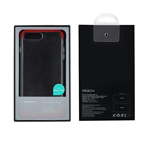 iPhone Case Cover Rock Cheer Series pour iPhone 7 Plus Frosted PC Boîtier de protection arrière Coque Shell avec TPU les deux extrémités ( Color : White ) Green