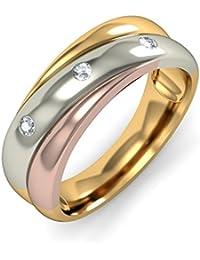 BlueStone Yellow Gold and Diamond Eternal Serenade Ring