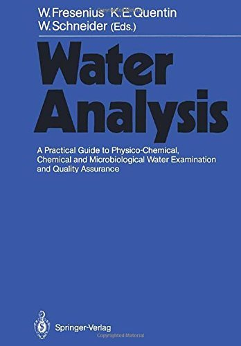 Water Analysis: A Practical Guide to Physico-Chemical, Chemical and Microbiological Water Examination and Quality Assurance (2011-12-10) par unknown
