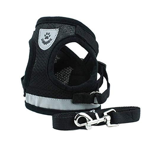 Lorsoul Hundegeschirr Tageshemd, Trainings Dog Walking Weste Kleidung Welpengeschirr Jacke, für Kleine Meduim große Hunde - S