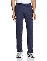 Hanes Men's Cotton Track Pants (8907378021687_MPP70-063-PL_Large_Blue Melange)