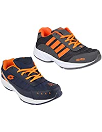 Redon Men's Pack Of 2 Sports Running Shoes (Running Shoes, Jogging Shoes, Gym Shoes, Walking Shoes) - B074HDRZ1P