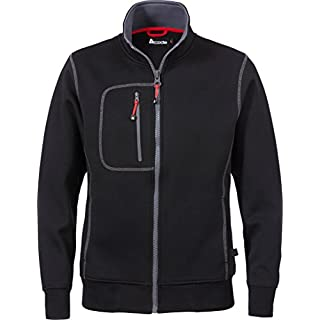 A Code - Damen Sweatshirt mit Reißverschluss CODE 1748, Farbe : 940 Schwarz, A-Code Damengrößen: S