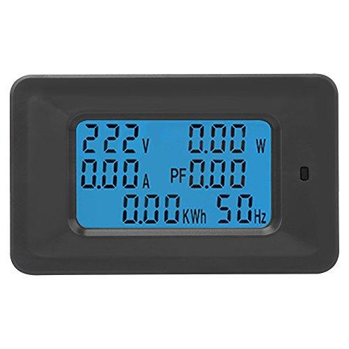 LCD Display Digital Voltage Multimeter 6 in 1 Wechselstrom 110V-250V 20A Strom-Energiezähler Amperemeter Voltmeter mit Hintergrundbeleuchtung Display Digital Multimeter