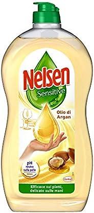 Nelsen Nelsen Olio D'Argan, Detersivo Per Piatti A Mano, Rimuove Grasso Ed Incrostazioni, Delicato Sulle M