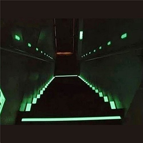 Inovey Bande Photoluminescente De 25Mm X 3M Lueur dans L'Obscurité De Sécurité De Sortie Mark Vert