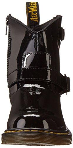 Dr. Martens Lydia, Boots mixte enfant Noir (Black Patent Lamper)
