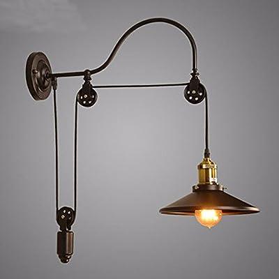 Industrielle Wand montiert Schwanenhals Lampe E27 Lampe Riemenscheibe Reflektor Wandleuchte