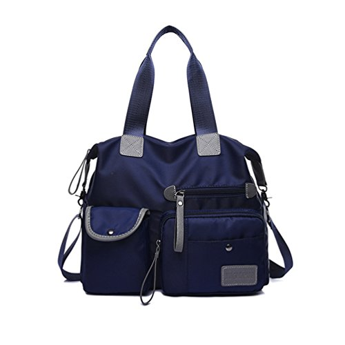 YAN Women's Bag Wasserdichte Nylon Messenger Bags Cross Body Schultertasche Casual Multi Pocket Handtasche Tote Handtasche Handtasche (Color : Blue) - Multi-kupplungs-geldbeutel