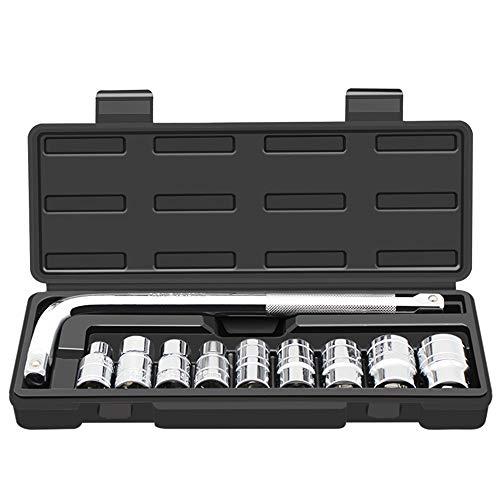 Lieyliso 10 pièces Outils de Combinaison de clé à cliquet kit de réparation Auto kit Set Auto Prise Ensemble pour la réparation de Voiture/Entretien ménager