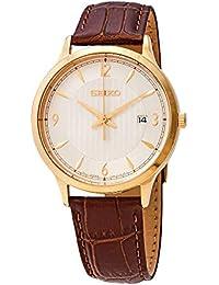 Seiko SGEH86 - Reloj de Cuarzo para Hombre, Esfera Blanca