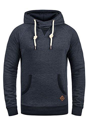 !Solid VituCross Herren Kapuzenpullover Hoodie Pullover Mit Kapuze Und Cross-Over-Kragen Fleece-Innenseite, Größe:L, Farbe:Insignia Blue Melange (8991)