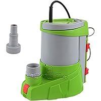 Agora-Tec® AT-Tauchpumpe clear water 250W-vario-control (flachsaugend auf 1 mm) stufenlos einstellbarer integrierten Schwimmerschalter) mit Rückschlagventil und max: 0,4 bar und max: 3000l/h