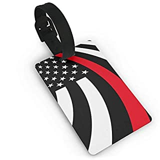 Thin Red Line Flag Luggage Tags ID Convenience Accessioes
