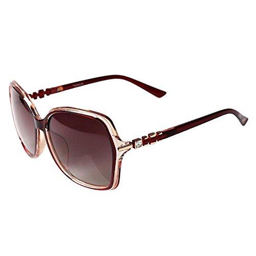 Sonnenbrillen Ultraleicht - polarisierten Sonnenbrillen Weibliche Diamant-Spiegel Beine Sonnenbrille Frauen rundes Gesicht Driving Spiegel Tide Schütze Deine Augen (Farbe : D)
