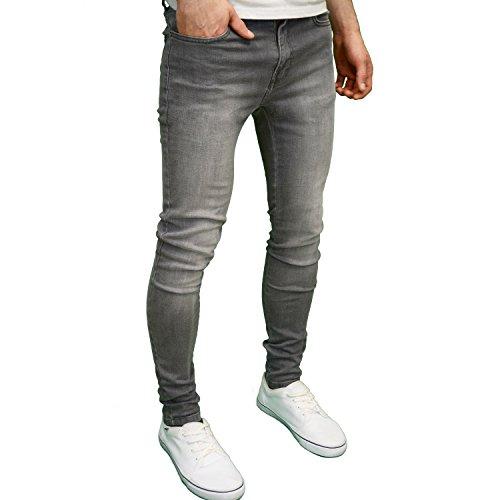 526Jeanswear Herren Jeanshose Schwarz schwarz 71 cm- 107 cm Grau