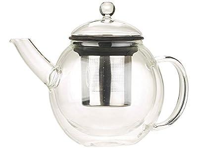 Théière en verre à double paroi avec filtre