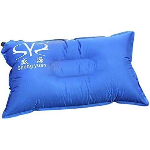 Blaux Al aire libre Auto-aire inflable de la almohadilla U cojín de la cabeza del coche del resto del cuello de Viajes