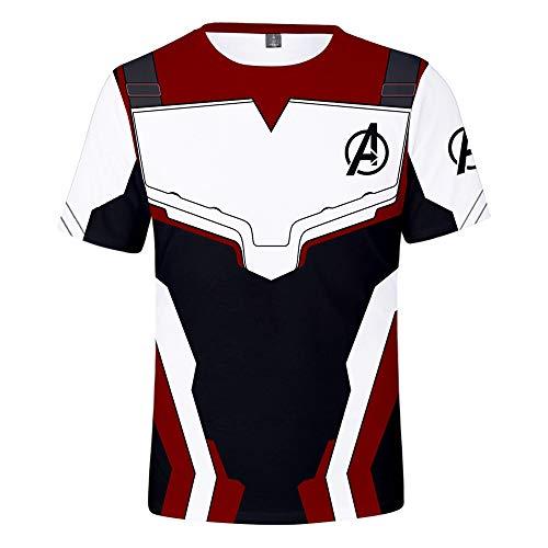 (qingning Endgame Quantum Realm T-shirt Superhero Cosplay 3D Drucken Shirt Gruppe Kostüm)