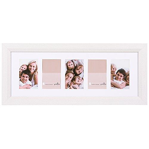 Goldbuch Galerierahmen, Milano, für 5 Bilder im Format 10 x 15 cm, Holz, Weiß, 900309