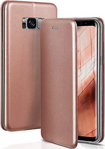 ONEFLOW Samsung Galaxy S8 | Hülle Rose-Gold mit Karten-Fach 360° Business Klapp-Hülle Handytasche Kunst-Leder Handyhülle für Samsung Galaxy S8 Flip Case Cover Tasche Schutzhülle