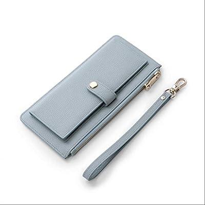 ZLR Mme portefeuille Portefeuille à fermeture éclair mince Portefeuille en cuir à la longue section Nouveau portefeuille à grande capacité