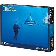 Clementoni 39303 - National Geographic Squalo Bianco Puzzle, 1000 Pezzi