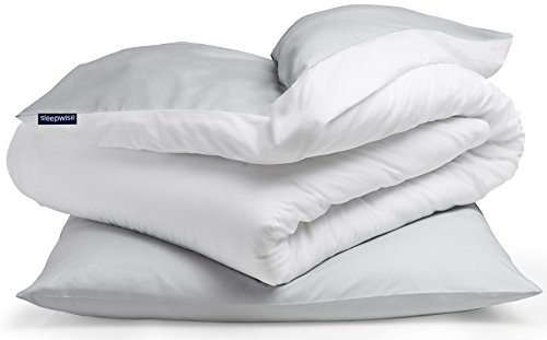 "sleepwise ""Soft Wonder-Edition Bettwäsche (Light Grey/White, 135 x 200 cm)"