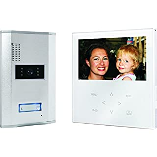 Smartwares VD71W SW Video-Türgegensprechanlage mit flachem Touchscreen-Panel, Farbbildmonitor, weiß