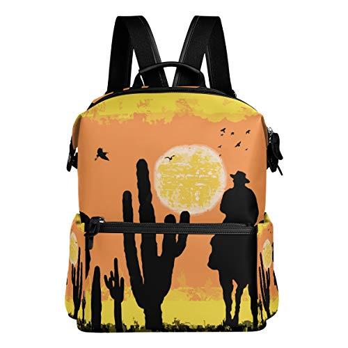 TIZORAX Cactus Cowboys On Desert - Mochila Escolar para niños, niñas