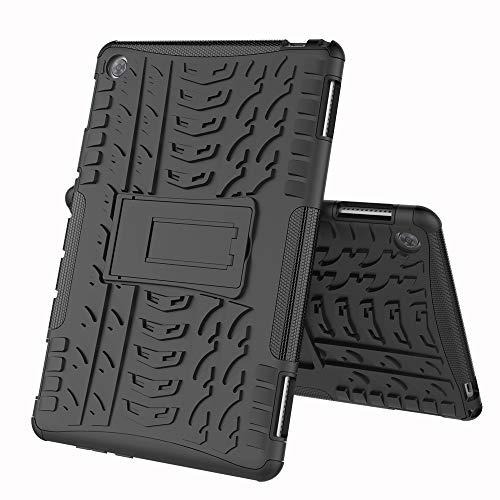 COVO® Huawei MediaPad M5 PRO (10.8 Inch)-Hülle Tough Hybrid Armor Case,Diese Handyhülle Anti-Wrestling Travel Essential Faltbare Halterung für Huawei MediaPad M5 PRO (10.8 Inch)(Schwarz)