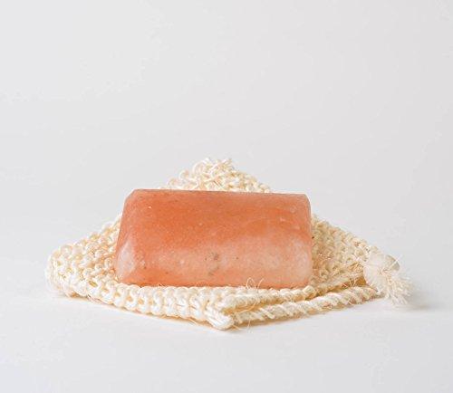 HIMALAYAN SALT SOAP PURE 100% NATURAL PINK ROCK SALT SMOOTH FINISH (SALT BAR x 1)