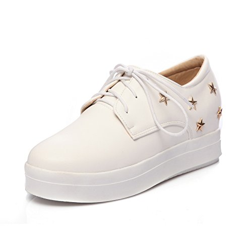 fc6ad1dea9292f Balamasaapl10151 Chaussures Plateforme Femme Blanche ...