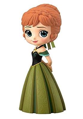 Figura de Colección Princesa Anna de Frozen 14cm QPOSKET Banpresto Disney Characters - Anna Coronation Style Versión A Vestido Oscuro de DISNEY Banpresto