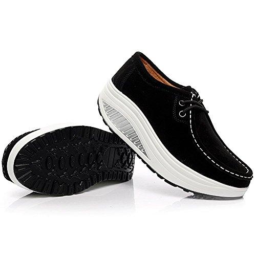 Sneaker In Pelle Scamosciata Con Zeppa Scamosciata Da Donna