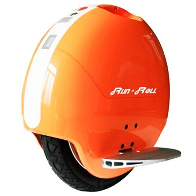 "Run & Roll Turbo Spin 3 - Monociclo eléctrico para hombre, color naranja / blanco, 14"""
