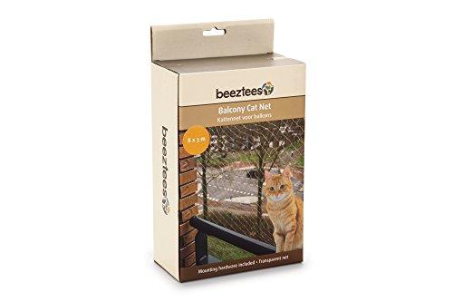 *Katzenschutznetz für Balkone 8 x 3 m,  Schutznetz für Katzen komplett, Transparent, Maschengröße 3 x 3 cm durchsichtiges Balkonnetz inkl. Befestigungsmaterial*