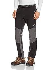 Izas Coruna - Pantalón de montaña para hombre, color negro / gris oscuro, talla L