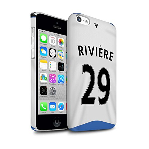 Offiziell Newcastle United FC Hülle / Glanz Snap-On Case für Apple iPhone 5C / Torwart Muster / NUFC Trikot Home 15/16 Kollektion Rivière