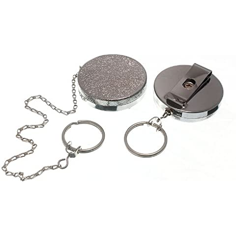Recoil Primavera retráctil llavero Cp 450mm Cadena Con clip de cinturón Pack 1