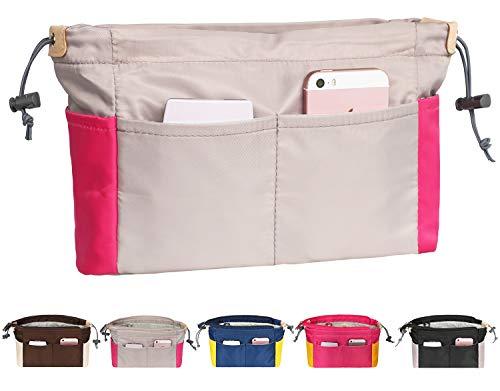 Taschenorganizer aus Nylon, Farbabstimmung Handtaschen Organizer Bag in The Bag für Damen,Innentaschen für Handtaschen mit Reißverschluss für LV