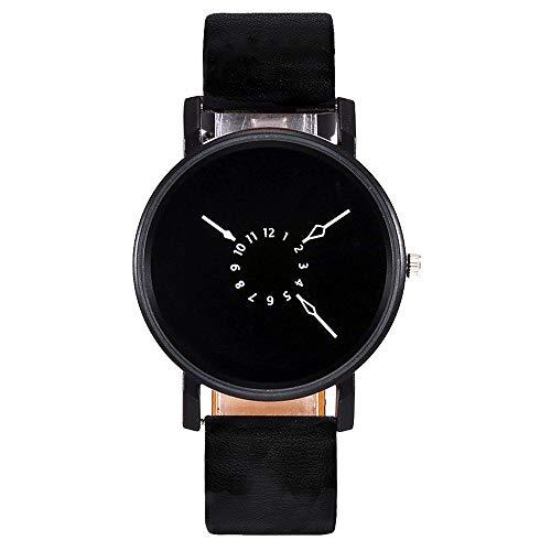 Patifia Damen Uhren Günstig, Damen Quarz Lederband Newv Einfarbig Armbanduhr Analoge Armbanduhr Beiläufige Lederband Quarz analoge Armbanduhr Geschäft Beiläufig ()