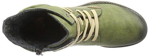 Rieker 78530, Bottes Classiques Femme Vert (Leaf/Mogano/52)