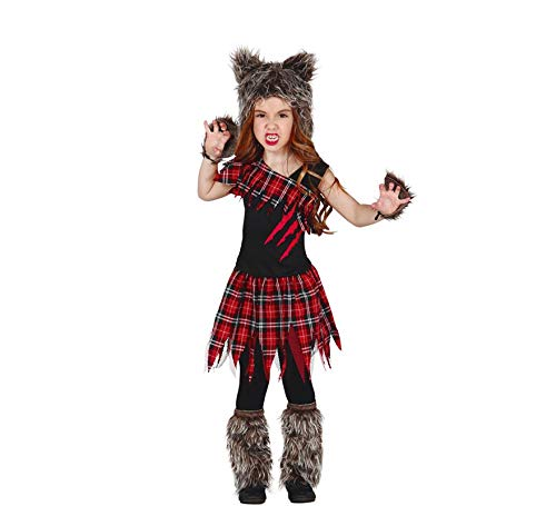 Wolf Kostüm für Mädchen Gr. 98-146, Größe:128/134 ()